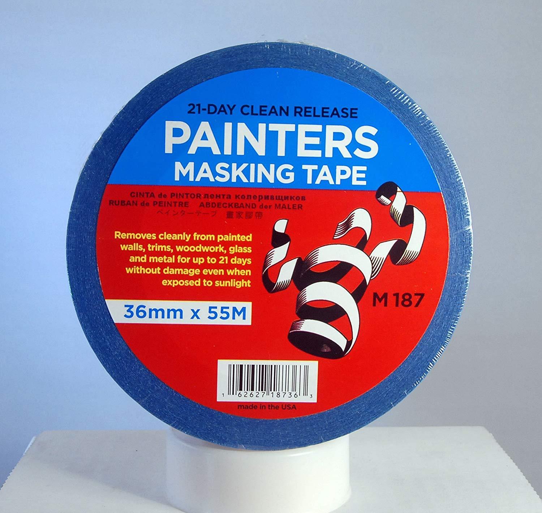 Merco M187 Blue Luxury goods Painters Masking Tape x 36mm Case - 55M Full Max 79% OFF