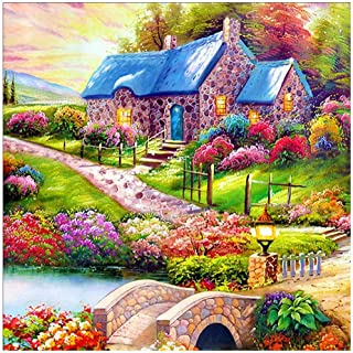 AHOMI 5D DIY Full Drill Square Diamond Painting Landscape Cross Stitch Kit for Adult Home Room DecorC009