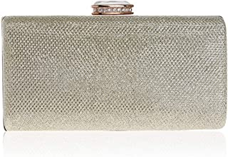 Clutch Handbag Fashion Dinner Woman Dress Evening Dress Crossbody Bag Shoulder Bags Wallet Rhinestone Party Bride Dance Party (18×5×9cm)