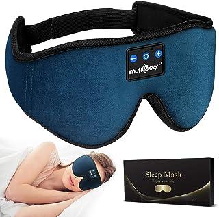 MUSICOZY Sleep Headphones Bluetooth 5.0 Headband Sleeping Headphones Sleep Mask, Wireless Music...