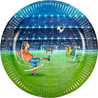 Spiegelburg 14117 Juego de 8 Platos de Papel Futbol Fiestas ...