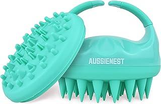 Aussienest Hair Scalp Massager Shampoo Brush Shower Scrubber, Soft Silicone Bristles For hair wash with Body Brush Attachm...