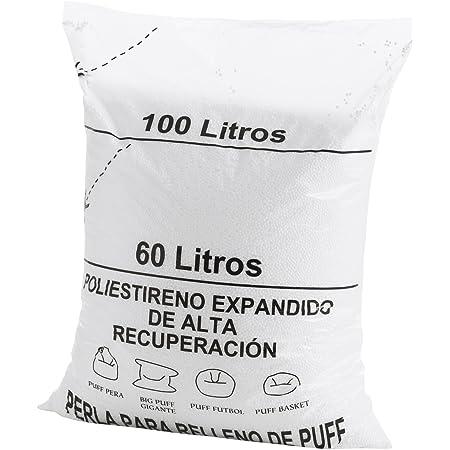 TEXTIL-HOME Textilhome - Puff Remplissage (Perles) 100 litres -Grand récupération Polystyrène et Grand Volume.