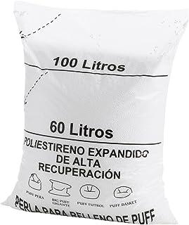 comprar comparacion Textilhome - Relleno para Puff de Bolas (Perlas) 100 litros - Poliestireno de Alta recuperación y Gran Volumen.