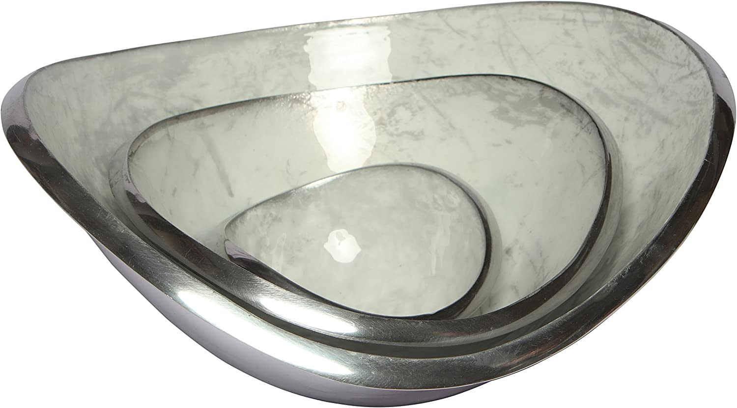 Melange Home Decor Classic Collection Set of 3 Wave Bowls- Sales SALE items from new works 4.25 Max 64% OFF