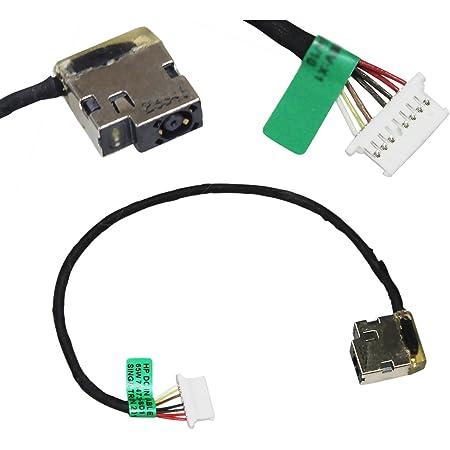 5pcs GinTai DC Power Jack Harness Cable Socket Plug Connector Port Replacement for HP 15-au010wm 15-bk020wm 15-au027cl P//N 799735-F51 799735-S51