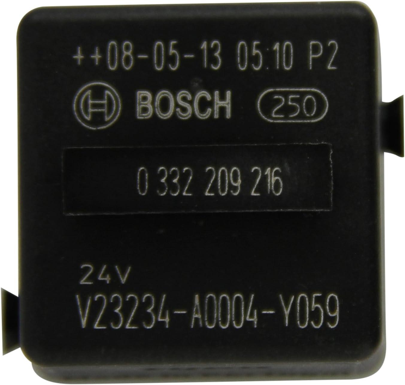 Bosch 0332209216 Mini relé de 24 V 20A, IP5K4, temperatura de funcionamiento de -40° a 85°C, relé de 5 pines