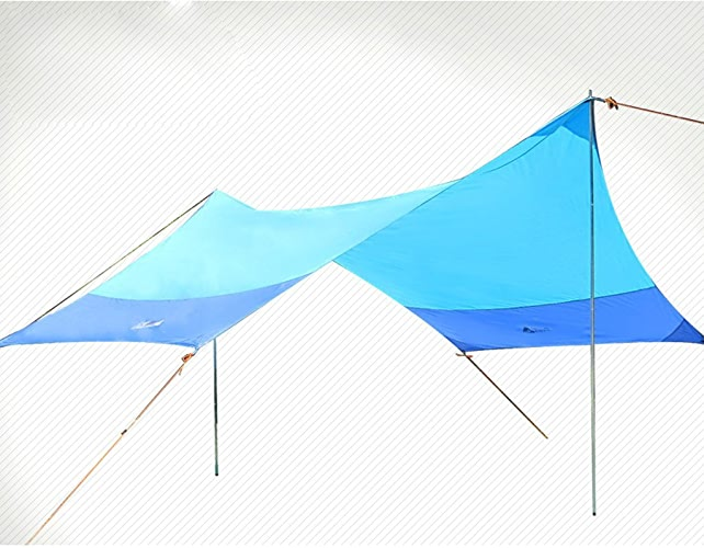 Tente de plage Canopy auvent extérieur pergola auvent multijoueur grand soleil lumière