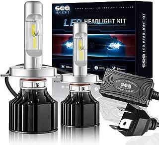 SEALIGHT X2 H4 LED Headlight Conversion Kit 100W 12000LM- 32x CSP LED Chips - Cool White 6000K - Dual Hi/Lo Beam Bulbs - H4/HB2/9003 bulbs