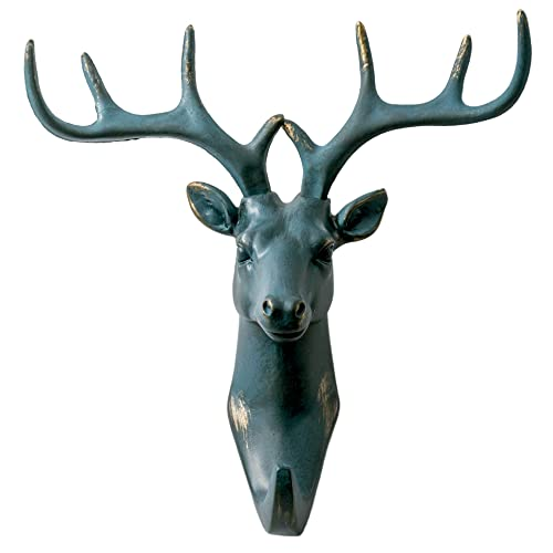 e57b6dceb8f6b Herngee Deer Head Single Wall Hook Hanger Animal Hook Rustic