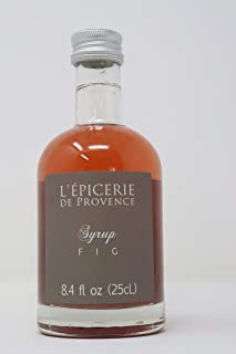 LEpicerie De Provence - Imported French Fig Syrup for Cocktails Smoothies,Fruit Salads and Ice Cream 8.45 Ounce Bottle