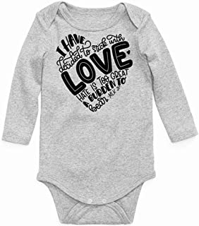 I Have Decided to Stick with Love Long Sleeve Baby Onesie