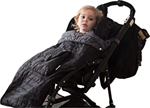 Baby-to-Love Easy Pocket, Baby Stroller Blanket Cover for Toddler, Stroller Warmer, Lightweight, Water-Resistant, Quilted (Black)