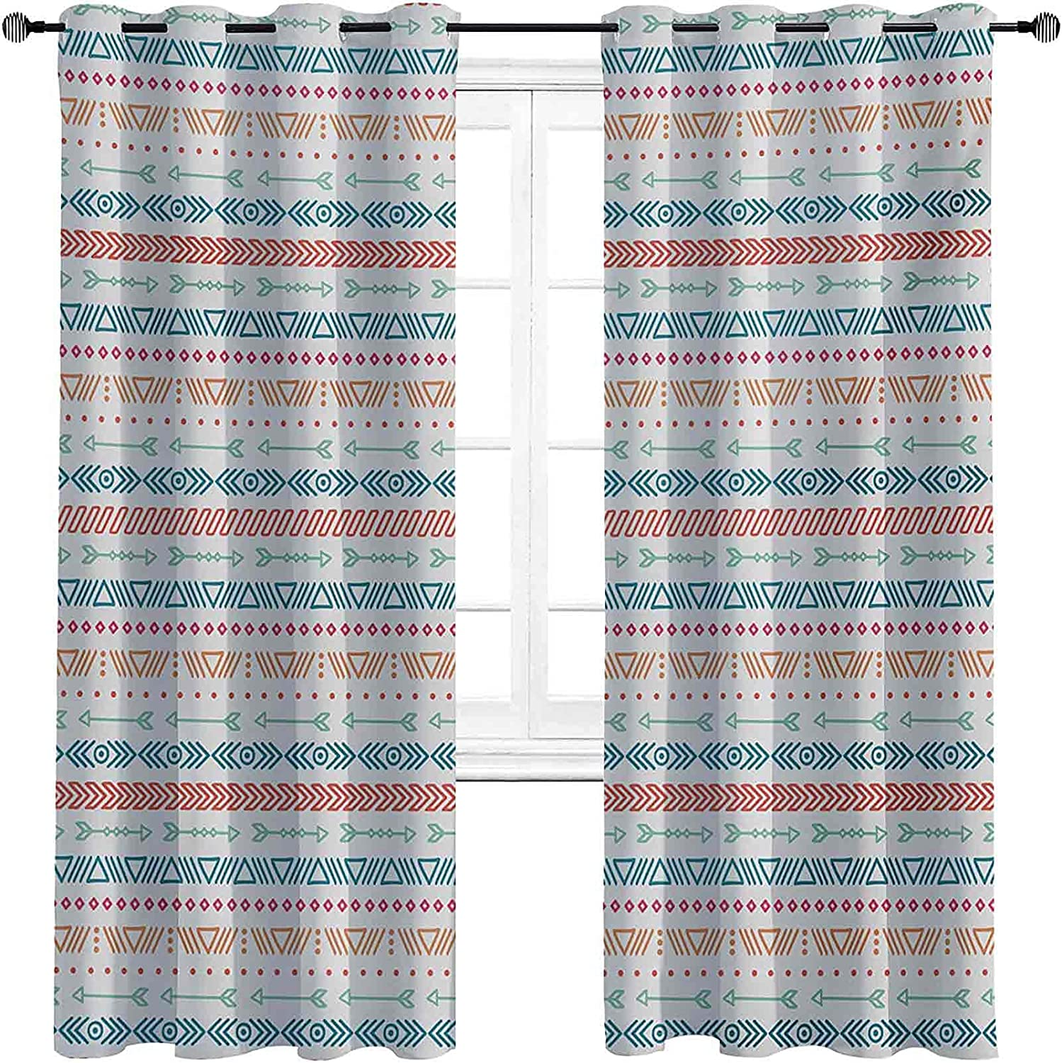 90% Ranking TOP2 Blackout Tribal Curtains Hand Geometric Drawn shop Pattern Style