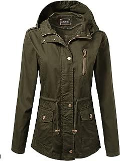 Women's Zip Up Military Anorak Jacket w/Hood [S-3XL]