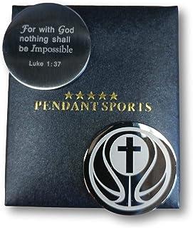ميدالية الصلاة للرياضيين الرياضيين مقدمة في صندوق هدايا أنيق. مع آية الكتاب المقدس الملهمة 1: 37 على الظهر. متوفرة في البي...