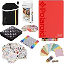 Polaroid Mint Pocket Instant Printer (Red) Gift Bundle + Paper (20 Sheets) + Deluxe Pouch + 9 Fun Sticker Sets + Twin Tip Markers + Photo Album + Hanging Frames + 100 Sticker Frame Set