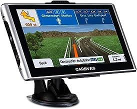 Navegación GPS CARRVAS para coche, Sistema de navegación GPS para camiones MAP 2021, Guía de dirección de voz hablada, Advertencia de velocidad, Estados Unidos, Canadá, México y Sudamérica Actualización de mapas de por vida