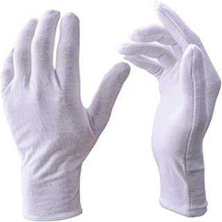 UClever 12 Pares guantes algodon Blanco De Trabajo De
