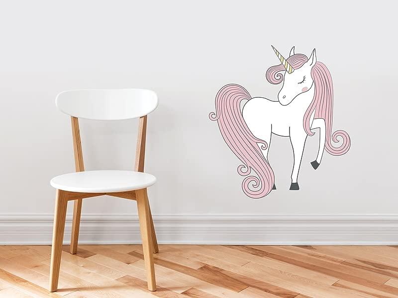 Unicorn Fabric Wall Decal Hand Drawn Unicorn Magic Peel And Stick Wall Decor Horse And Pegasus Decoration Children S Room Nursery