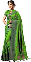 VintFlea Womens Sarees for Indian Women Heavy Embroidery Work Silk Saree with Blouse Piece
