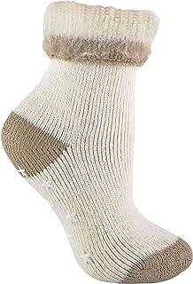 Mujer Invierno Termicos Antideslizantes Alpaca Lana Calcetines para Dormir