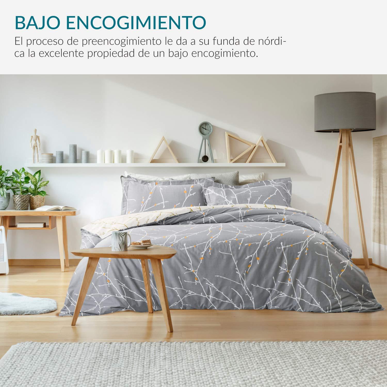Bedsure Funda Nordica Algodon 100% Cama 150/135 - Juego de Funda ...