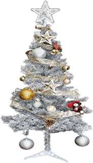 Hub Special, 6ft Artificial Christmas Tree W/Stand, 450 Tips, Silver Color