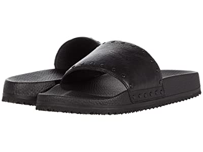 John Varvatos Studded Pool Slide (Black) Men