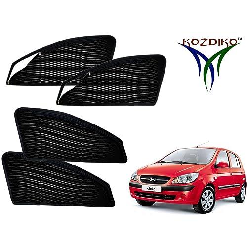 Kozdiko Zipper Magnetic Sunshade Curtain Set of 4 Pcs Black for Hyundai Getz