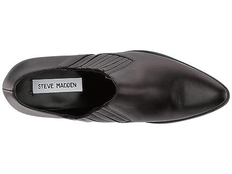 Steve Snake Black Bootie SuedeWhite Korral Madden LeatherTaupe 0q1x60r