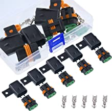 Swpeet 5Pack Waterproof ATO ATO ATC Fuse Holder Assembly Splice Existing Wire Kit Ideal for ATO ATC fuses
