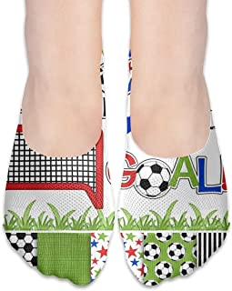 BRECKSUCH Football Soccer Digital Clipart Paper Suits Female Anti-Slip Boat Socks,Unique Casual Thin Polyester Cotton Low Cut Socks,Hidden Flat Boat Liner