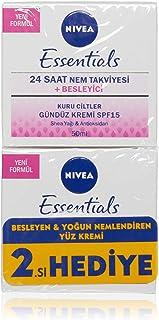 Nivea Essentials Besleyici Gündüz Kremi Kuru Ciltler 50 ml 2'li Paket (2 x 50 ml)