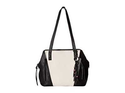 The Sak Paramount Satchel (Black/White Block) Satchel Handbags