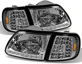 ACANII - For 1997-2003 Ford F150 Expedition LED Headlights w/LED Corner Signal Head Lights Lamps Driver & Passenger Side