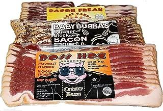 Bacon Freak Dry Cured Gourmet Bacon Sampler 42 ounces Total