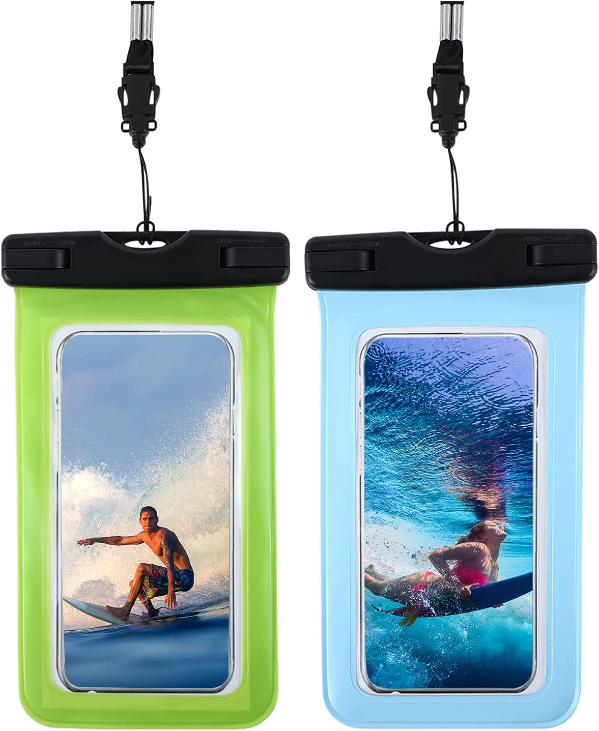 Universal Waterproof Pouch, IP68 Waterproof Cellphone Dry Bag Underwater Case for iPhone 12 Pro Max 11 Pro Max Xs Max XR X 8 7 6S, Galaxy S21 Ultra S20 Note20 10 up to 7
