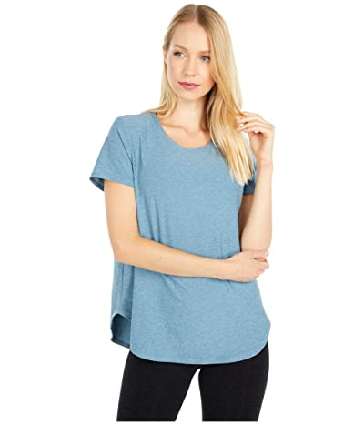 Beyond Yoga Lightweight Spacedye On the Down Low Tee (Stormy Blue) Women