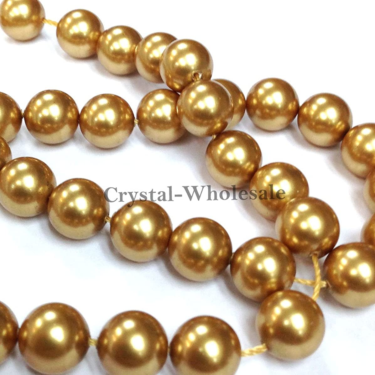 Bright Gold Swarovski Pearl -3mm, 200 Bead Strand