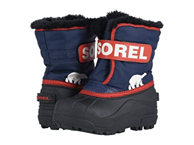 SOREL Kids Snow Commander (Toddler/Little Kid) (Nocturnal/Sail Red) Boys Shoes