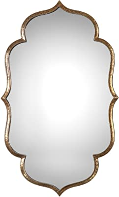Arabesque Quatrefoil Gold Wall Mirror | Vanity Moroccan Shaped Romantic