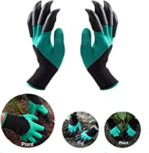 DIGGERZ LLC Garden Gloves with Claws; Universal Size; 8 ABS Plastic Claws on Left and Right Hands, Green; Quick & Easy to Dig Without Tools, - Great Gift for Mom and Dad, Safe For Planting