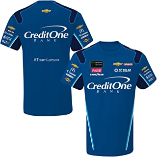 Kyle Larson 2018 Credit One Sublimated NASCAR Pit Crew T-Shirt