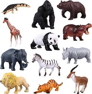 TOYANDONA 12pcs Realistic Mini Farm Animals Figures Toys Miniature Plastic Animal Figures Toys Cake Toppers