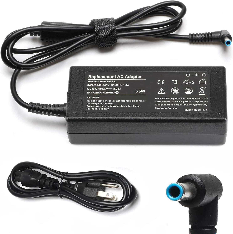65W Adapter Laptop Charger for HP Chromebook 11 14 G3 G4 X360 Series Notebook Charger 11-v020wm 11-v025wm 11-v010wm 14-q010dx 14-ak013dx; HP Envy x360 15-u010dx 15-u011dx 15-u002xx Supply Cord