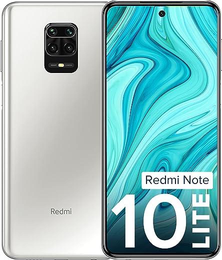 Redmi Note 10 Lite Glacier White 4GB RAM 128GB ROM | Alexa Built-in