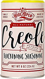 Wide Open Foods Creole Blackening Seasoning - Flavoring Blend - All Natural No Artificial Ingredients All Around Rub and S...