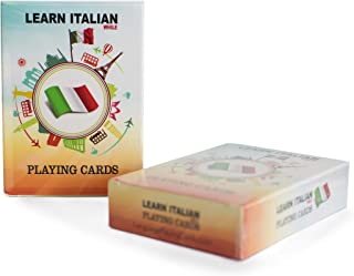 Learn Italian While Playing Your Favorite Card Game - Works for beginners too - Fun, Visual Italian Language Flash Cards with Phonetic Spelling - Learn New Vocabulary & Numbers Easily