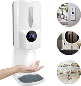 TOSUKAI Automatic Hand Sanitizer Dispenser with Touchless Infrared Thermometer, Sanitizing Dispenser Station with Temperature Check, Touch Free Sanitizer Dispenser for Commercial or Home Use